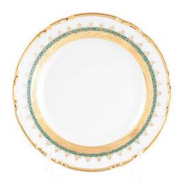 Набор десертных тарелок Klasterec Thun КОНСТАНЦИЯ ИЗУМРУД ЗОЛОТО 17 см