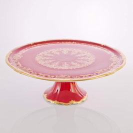Блюдо для торта Weimar ЮВЕЛ Красный 33 см ( артикул МН 20655 В )