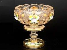 ХРУСТАЛЬ С ЗОЛОТОМ ваза для конфет овальная 13 см