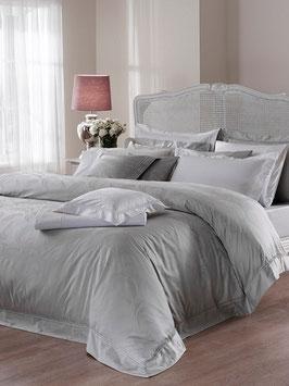 Постельное Белье VALERON SATIN JACQUARD 2 спальное ANGELIQUE Серый