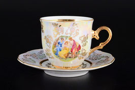 Набор для кофе мокко МАДОННА ПЕРЛАМУТР Queens Crown на 6 персон 12 предметов