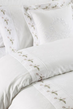 Постельное Белье VALERON SATIN JACQUARD 2 спальное MADRISA Белый