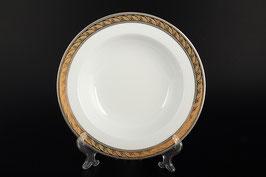 Набор глубоких тарелок ЯНА ЗОЛОТО С ПЛАТИНОЙ Thun 22 см