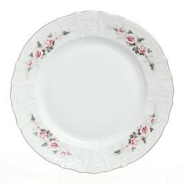 Блюдо круглое глубокое Bernadott РОЗА СЕРАЯ ПЛАТИНА 32 см