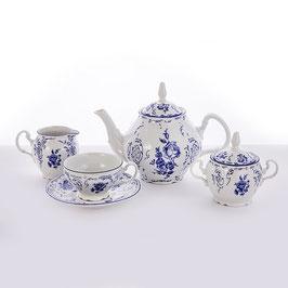 Чайный сервиз СИНИЙ Bernadotte на 6 персон 15 предметов