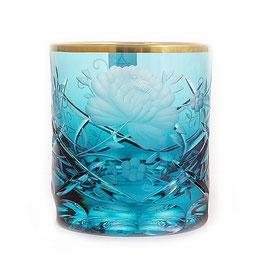 Набор хрустальных стаканов для виски Arnstadt ROZA БИРЮЗА 250 мл