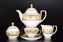 Чайный сервиз Falkenporzellan CREM GOLD на 6 персон 15 предметов