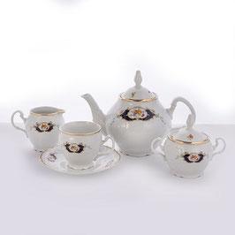 Чайный сервиз СИНИЙ ГЛАЗ Bernadotte  на 6 персон 15 предметов