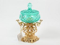 Декоративная ваза для конфет с крышкой Rozaperla 19,5 см
