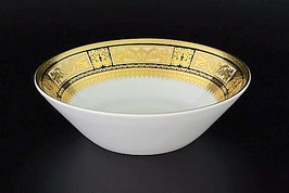 Набор салатников Falkenporzellan DIADEM BLACK CREM GOLD 19 см