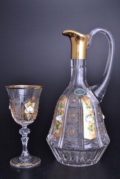 Набор для ликера Bohemia Crystal ХРУСТАЛЬ С ЗОЛОТОМ 7 предметов