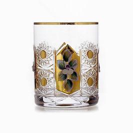 Набор стаканов для виски Glasspo ХРУСТАЛЬ С ЗОЛОТОМ 330 мл