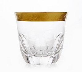 Набор стаканов для виски ДЖЕССИ ЗОЛОТОЙ ОБОДОК Kvetna 360 мл
