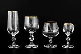 Подарочный набор бокалов КЛАУДИЯ Bohemia Crystal 24 предмета