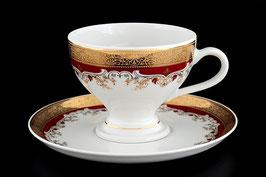 Набор для чая Thun КРАСНАЯ ЛИЛИЯ на 6 персон 12 предметов