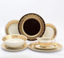 Столовый сервиз Falkenporzellan AGADIR BROWN Gold на 6 персон 25 предметов