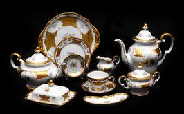 Немецкий чайный сервиз Weimar КЛЕНОВЫЙ ЛИСТ БЕЛЫЙ на 12 персон 55 предметов ( артикул МН 153 В )