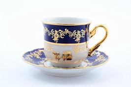 Набор для кофе КОНСТАНЦИЯ РОЗА ЗОЛОТАЯ  Thun на 6 персон 12 предметов