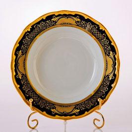 Набор глубоких тарелок Weimar СИМФОНИЯ ЗОЛОТАЯ КОБАЛЬТ 22 см ( артикул МН 23830 В )