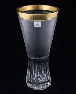 Немецкий Хрусталь ARNSTADT. Ваза для цветов БИБИГОЛД 30 см ( артикул МН 4076 В )