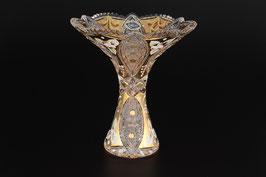 ХРУСТАЛЬ С ЗОЛОТОМ ваза для цветов 15 см