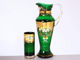 Набор для воды Bohemia crystal ЛЕПКА СМАЛЬТА ЗЕЛЕНАЯ 7 предметов