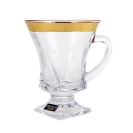 Набор кружек для чая Bohemia Crystal КВАДРО ВЕРСАЧЕ 6 штук