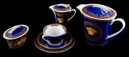 Немецкий Чайный Сервиз Rosenthal МЕДУЗА СИНЯЯ на 6 персон 15 предметов ( артикул МН 7911 В )