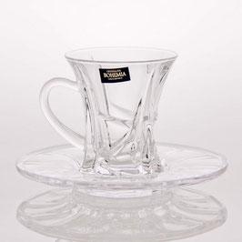 Набор для чая Bohemia Crystal КРИСТАЛАЙТ на 6 персон 12 предметов