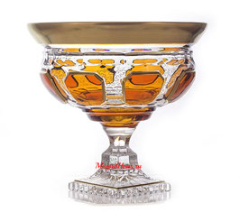 Немецкий Хрусталь ARNSTADT. Ваза для фруктов Антик Медовый 24 см ( артикул МН 5817 В )