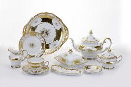 Немецкий чайный Сервиз Weimar КЛЕНОВЫЙ ЛИСТ БЕЛЫЙ на 12 персон 54 предмета ( артикул МН 32107 В )