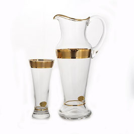 Набор для воды Bohemia Crystal ЗОЛОТАЯ ДОРОЖКА 7 предметов