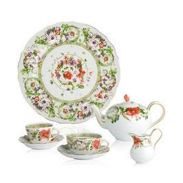 Немецкий чайный сервиз Rosenthal ЦВЕТОЧНАЯ ФАНТАЗИЯ на 6 персон 21 предмет ( артикул МН 7862 В )