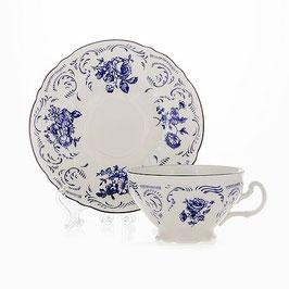 Набор для чая СИНИЙ Bernadotte на 6 персон 12 предметов