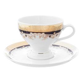 Набор для чая Thun ЧЕРНАЯ ЛИЛИЯ на 6 персон 12 предметов