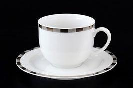 Набор для кофе мокко Thun ОПАЛ ПЛАТИНОВЫЕ ПЛАСТИНКИ на 6 персон 12 предметов
