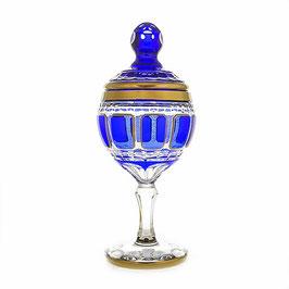 Хрустальная ваза для конфет Arnstadt АНТИК СИНИЙ 36 см