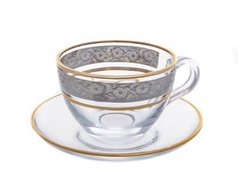Набор для чая КЛАУДИЯ  Bohemia Crystal на 6 персон 12 предметов