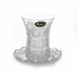 Армуда хрустальный набор для чая СНЕЖИНКА Bohemia Crystal на 6 персон 12 предметов