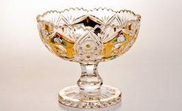 ХРУСТАЛЬ С ЗОЛОТОМ ваза для варенья 15,5 см