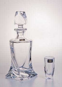 Набор для водки КВАДРО Прозрачный  Bohemia Crystal  7 предметов