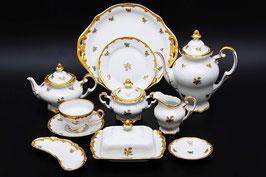 Немецкий чайный сервиз  Weimar РОЗА ЗОЛОТАЯ на 12 персон 55 предметов ( артикул МН 112 В )