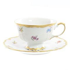 Набор для чая Queens Crown МЕЙСЕНСКИЙ ЦВЕТОК на 6 персон 12 предметов