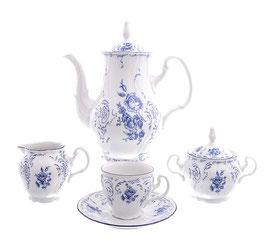 Кофейный сервиз СИНИЙ Bernadotte на 6 персон 15 предметов