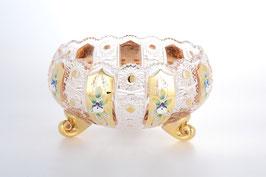 Хрустальная ваза для конфет на трех ножках Max Crystal ХРУСТАЛЬ С ЗОЛОТОМ 23 см