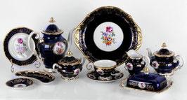 Немецкий чайный сервиз Weimar САНКТ ПЕТЕРБУРГ кобальт на 6 персон 31 предмет ( артикул МН 9281 В )