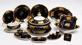 Немецкий столовый сервиз Weimar КЛЕНОВЫЙ ЛИСТ СИНИЙ на 6 персон 30 предметов ( артикул МН 3791 В )
