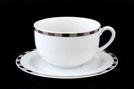 Набор для чая Thun ОПАЛ ПЛАТИНОВЫЕ ПЛАСТИНКИ на 6 персон 12 предметов