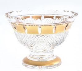Хрустальная ваза для конфет Bohemia Cristal ЗОЛОТАЯ ПОЛОСА 15 см