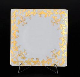 Набор закусочных тарелок Falkenporzellan TOSCA BORDEAUX GOLD 21 см